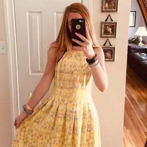 yellow Calvin Klein dress! great condition!